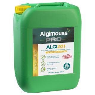 Algimouss - ALGI 201 - Traitement antimousse et imperméabilisant - 20L