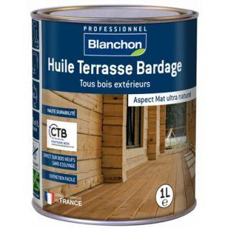 Blanchon - Huile Terrasse Bardage Bois Grisé 1L