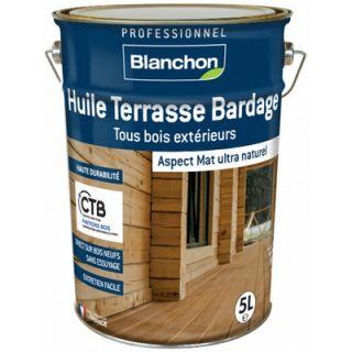Blanchon - Huile Terrasse Bardage Bois Grisé 5L