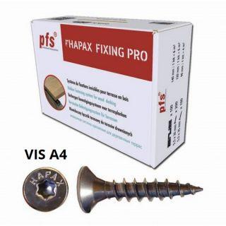 Hapax Fixing Pro (kit 6m²) - Fixation Invisible Pour Terrasse - Vis A4