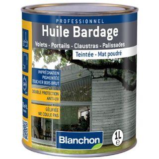Blanchon - Huile Bardage Teintée 1L Anthracite