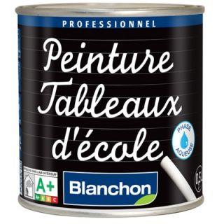 Blanchon - Peinture Tableaux d'école Noir 0,5L