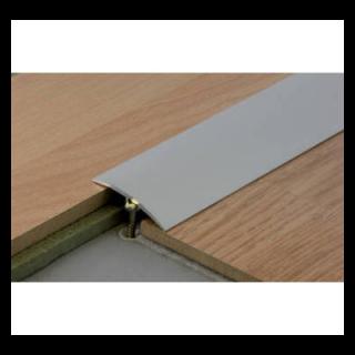 Barre de seuil DINAC à fixation invisible multi niveau en alu anodisé naturel 0,93m x 30mm