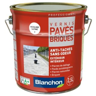 Blanchon - Vernis Pavés Briques 2,5L Incolore Satiné